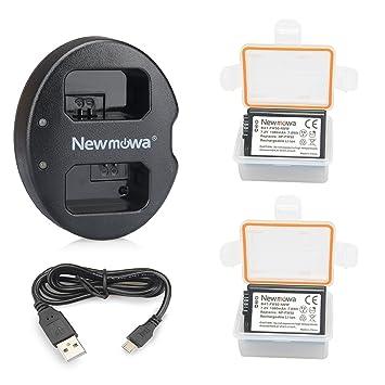 Newmowa NP-FW50 Batería de repuesto (2-Pack) y Kit de Cargador Doble para Micro USB portátil para Sony NP FW50 Sony Alpha a3000, Alpha a5000, Alpha ...