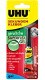 Uhu 45565 Sekundenkleber (Superflex Gel, geruchsfrei, Tube mit 3 g)