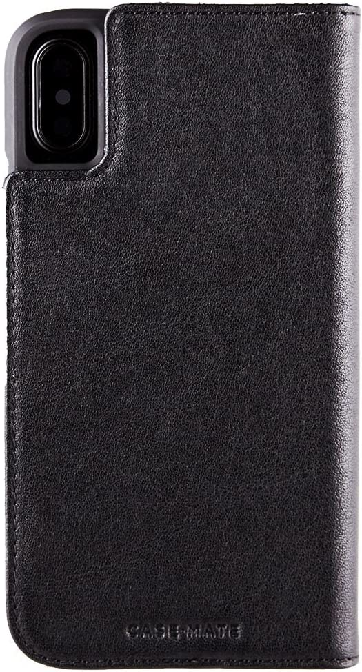 Case-Mate iPhone X Case - WALLET FOLIO - Leather Wallet - ID + Cards + Cash - Protective Design - Apple iPhone 10 - Black