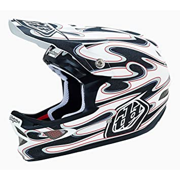 Troy Lee Designs D3 Squirt - Casco de ciclismo BMX integral, color blanco, talla