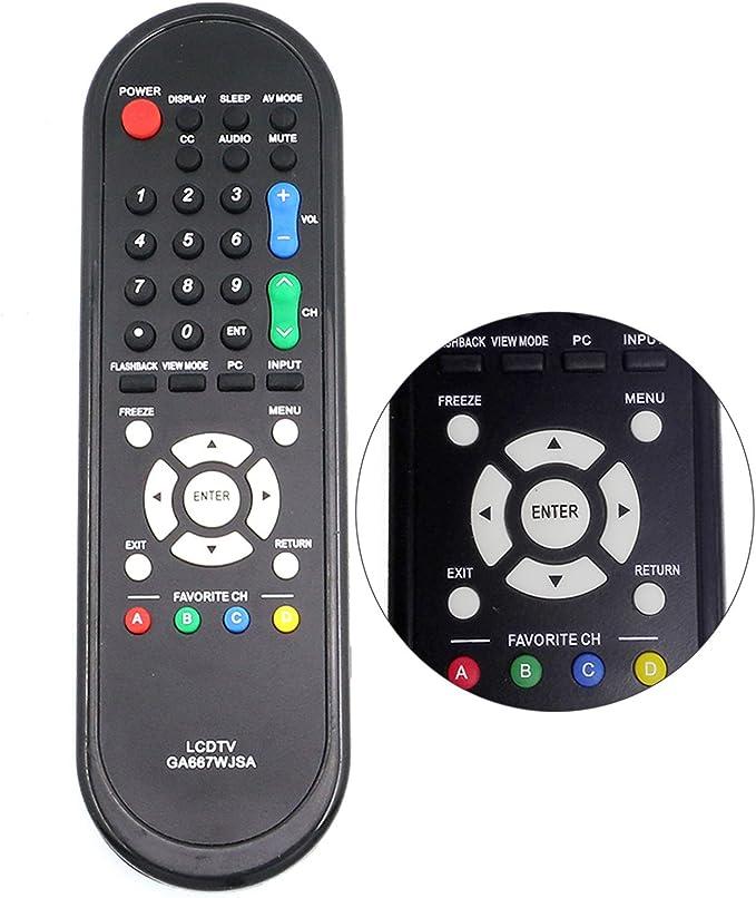 RRMC GA667WJSA Smart TV - Mando a Distancia para Sharp Aquos TV LC-46SB54U LC-52D78UN LC-60E78UNA LC-60LE550U LC-C3237UTLC-C4067 LC-C5255U LC-C5277 LC32D47UA LC46D78 LCC6077U: Amazon.es: Electrónica
