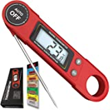 Talking BBQ/Cooking/Steak/Meat Thermometer, Digital LED Thermometer. Magnetic with Long Probe to Measure Accurate Temperatures When Cooking. Oven, BBQ, Grilling, Liquids - Milk, Tea, Bath. Gift