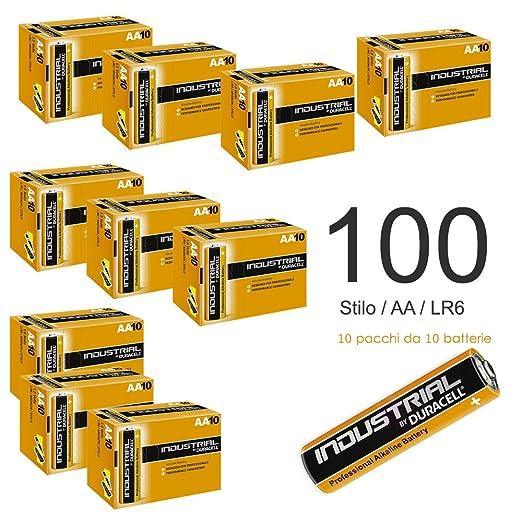 9 opinioni per 100 Pile DURACELL INDUSTRIAL Stilo AA LR6 Alcaline Pila Alta Capacità