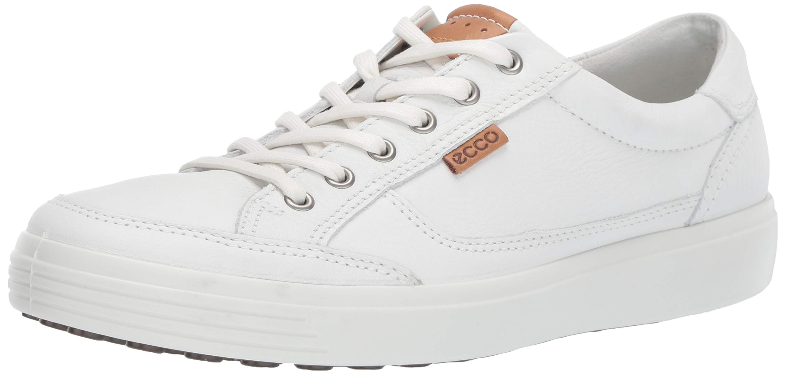 ECCO Men's Soft 7 Sneaker, White, 49 M EU (15-15.5 US)