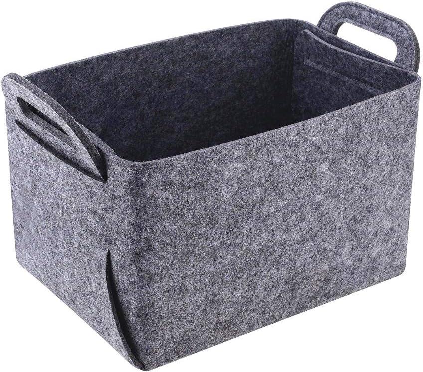 Bolsa de Fieltro con asa Gris Cesta de Fieltro Plegable para le/ña de Chimenea Medium Xlabor