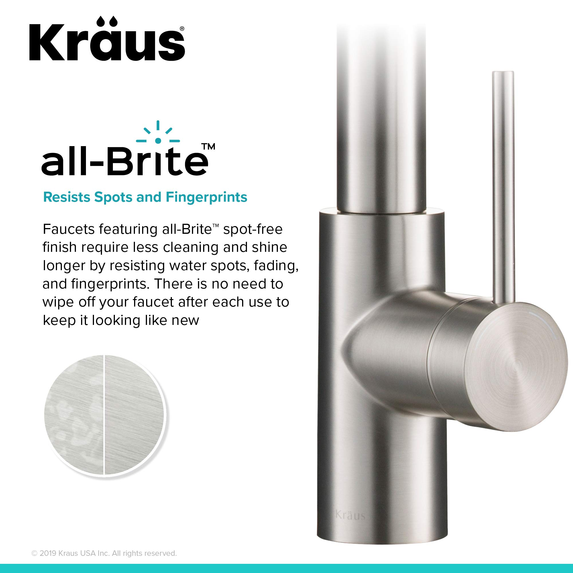 Kraus KPF-2631SFS Oletto Kitchen Faucet, 21.75 inch, Spot Free Stainless Steel by Kraus (Image #7)