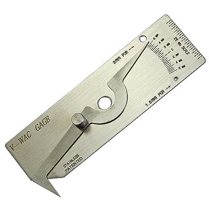 V-Wac Gage individual de soldadura galga de inspección Métricas inoxidable
