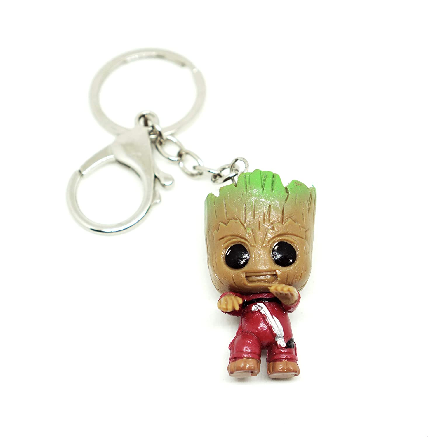VNFLY Nidavellir Baby Groot Keychain Groot Key Ring Size 2 x 1.19 IN