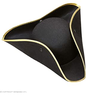 Tricorn Felt - Black Pirate Hats Caps   Headwear for Fancy Dress Costumes  Accessory d82fcc6077d0