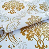 WOW Interiors Golden Floral Self Adhesive Wallpaper (200CMX45CM)