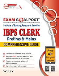 Wiley's IBPS Clerk (Prelims & Mains) Exam Goalpost Comprehensive Guide