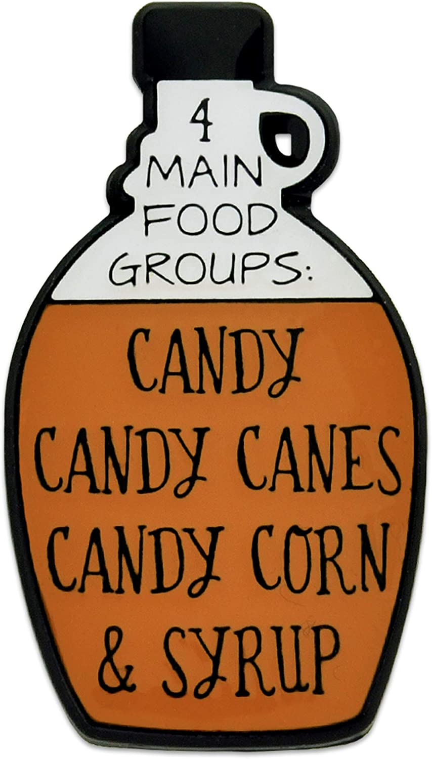 PinMart 4 Main Food Groups Syrup Candy Funny Enamel Lapel Pin