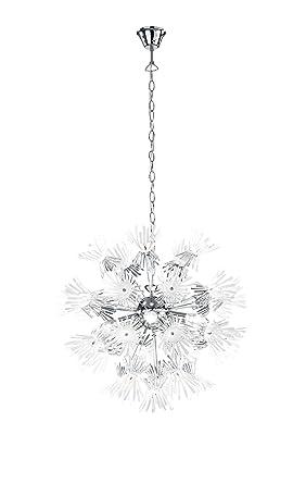 Reality Leuchten Pendelleuchte, Acrylblüten, 5x E14 Maximal 40 W, Ohne LM,  Durchmesser