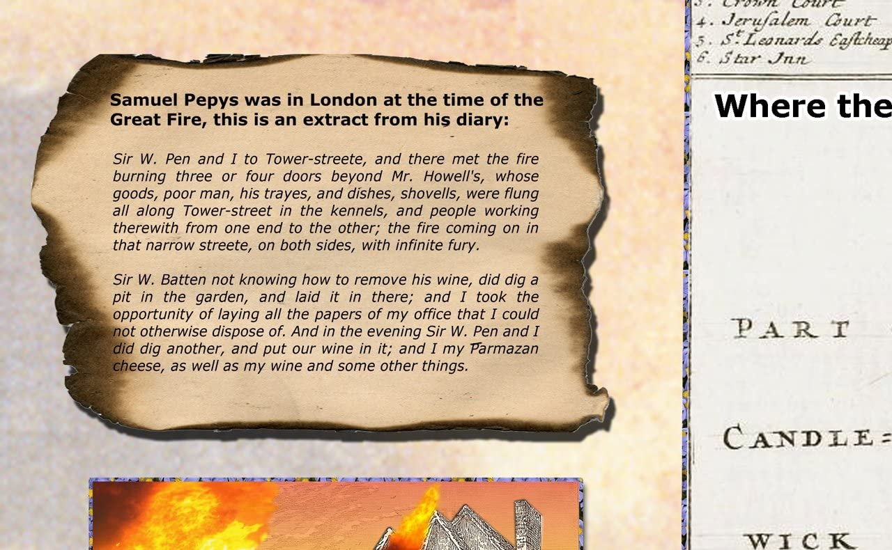 Informative and Detailed Laminated for Durability Colleges and Home- 59 x 84 Centimetres Suitable for Schools A1 The Great Fire of London Poster