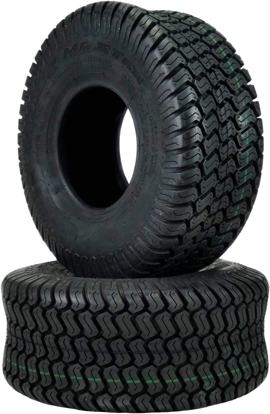 TWO 15X6.00-6 Lawn Tractor Turf Lawn 15X6-6 4 Ply Rated Lawn Mower Set Two Tires