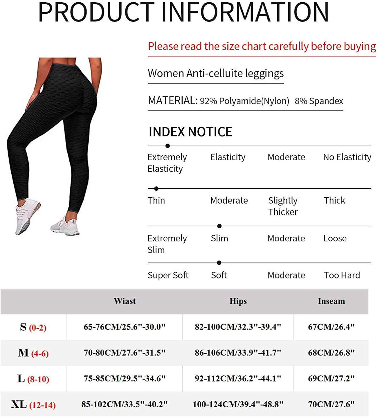 Yasion Booty Yoga Pants Womens High Waisted Anti Cellulite Ruched Butt Lifting Workout Leggings