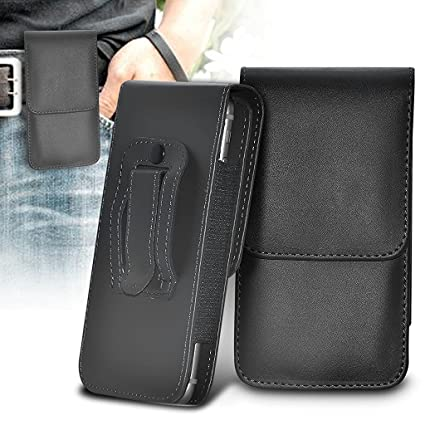 best loved 87254 717fe ONX3 (Black) Samsung Galaxy A5 (2017) Case Premium Vertical Faux Leather  Belt Holster Pouch Cover