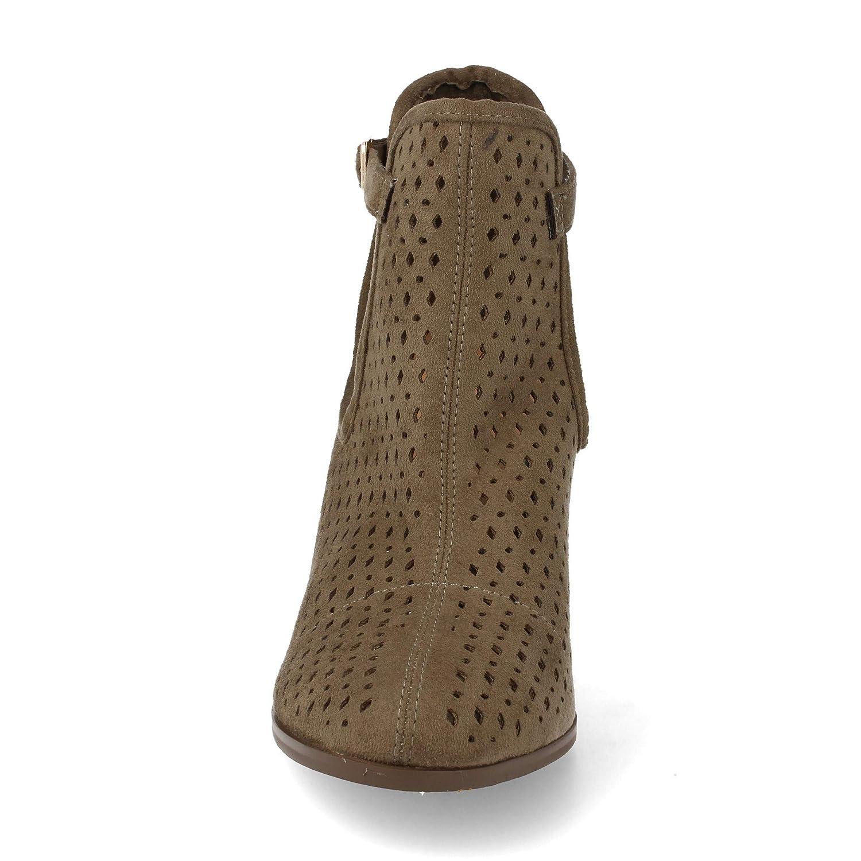 c28c8e77e01 Botin de Mujer campero de Tacon Alto con Lateral Abierto y Corte Calado  Primavera Verano 2019. Talla 41 Verde  Amazon.es  Zapatos y complementos