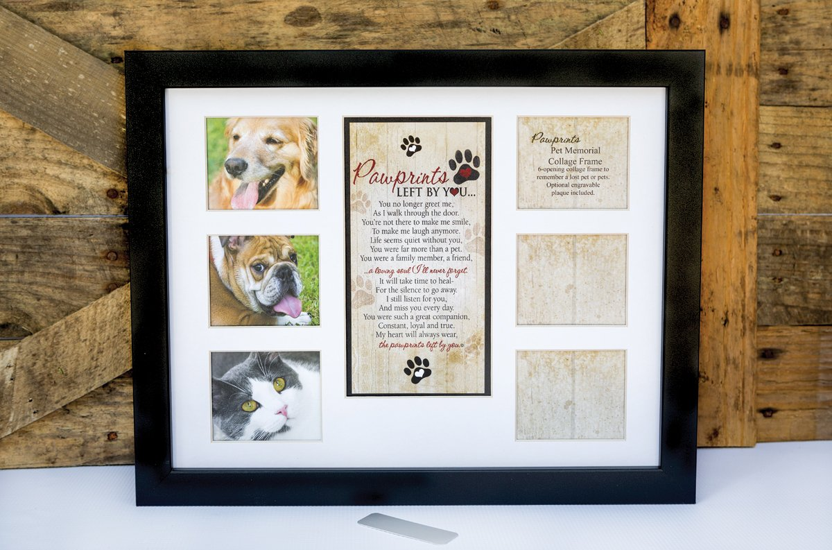 Amazon.com: Pet Memorial Collage Frame for Dog or Cat with Sympathy ...