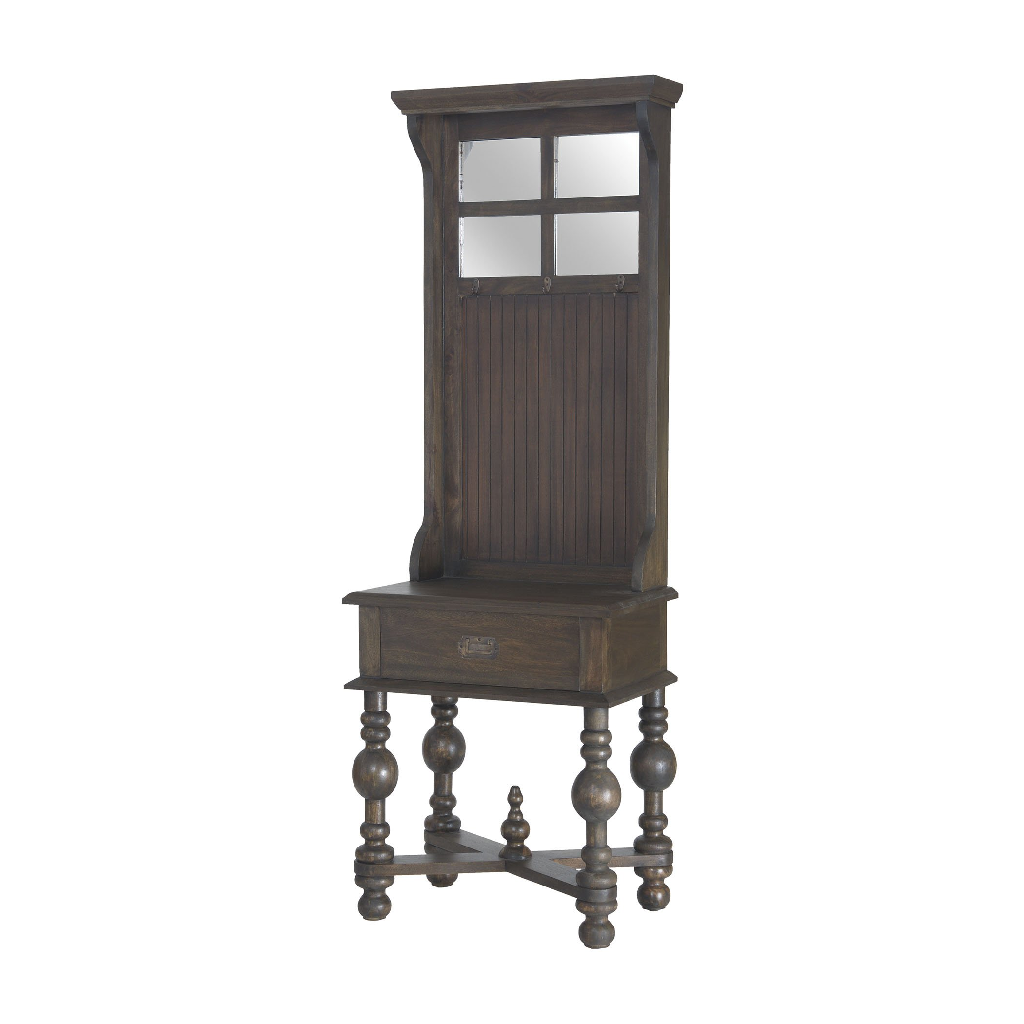 Hamptons Collection Heathcliff Hall Tree In Heritage Grey Stain