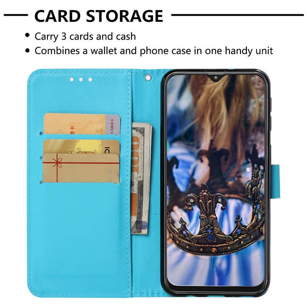 M20 Custodia per Cellulare Compatibile con Samsung Galaxy M20 Custodia 3D Modello Flip Case Cover in Pelle PU Custodia Protettiva in Pelle con Supporto Pieghevole Bumper Magnetico Cover per Ragazza