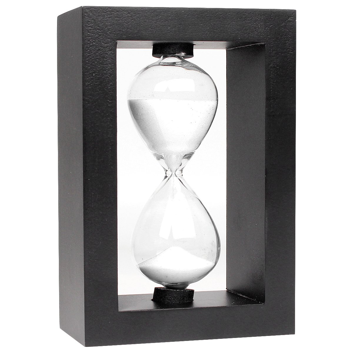 Sunmid Wooden Sandglass Sand Clock Timer Hot Sale Christmas Gift Color 10 Minute Hand-Blown hourglass Countdown Timing Home Decoration Decor Xmas Toys Graduation Gifts (White)