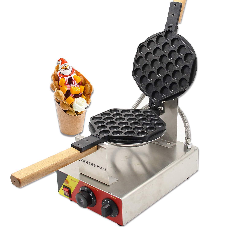 CGOLDENWALL NP-547 Gofrera Máquina de Gofre con Forma de Huevo del Estilo de Hong Kong Waffle Maker Eléctrica Antiadherente de Acero