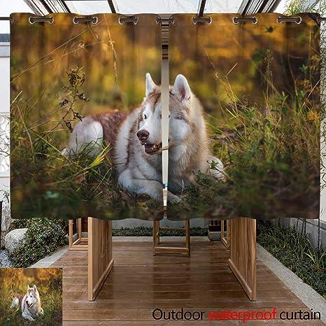 hermosos porches frontales de otoño WinfreyDecor Cortinas De Exterior Para Patio Perfil