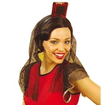 NET TOYS Tocado Flamenco español Lentejuela pequeño Sombrero ...
