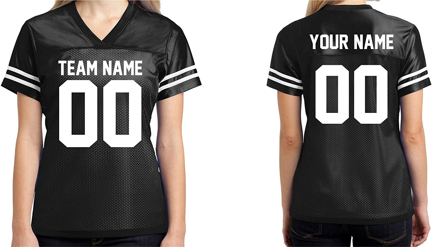 Custom Football Jersey Womens Shirt Make Your OWN 2 Sided Personalized Team Uniforms