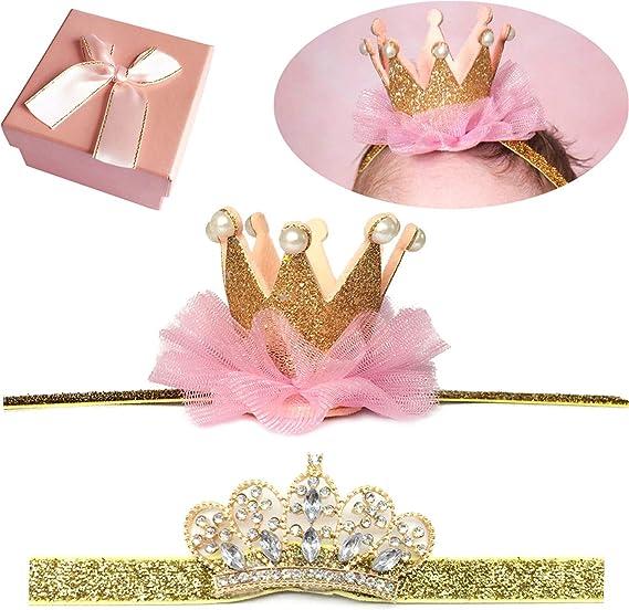 Sparkly Pink Crown Pink Crown Tieback Newborn Crown 1st Birthday Crown Newborn Photo Prop Pink Baby Crown