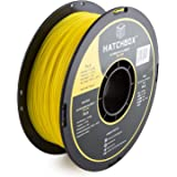 HATCHBOX 3D PLA-1KG1.75-YLW PLA 3D Printer Filament, Dimensional Accuracy +/- 0.05 mm, 1 kg Spool, 1.75 mm, Yellow