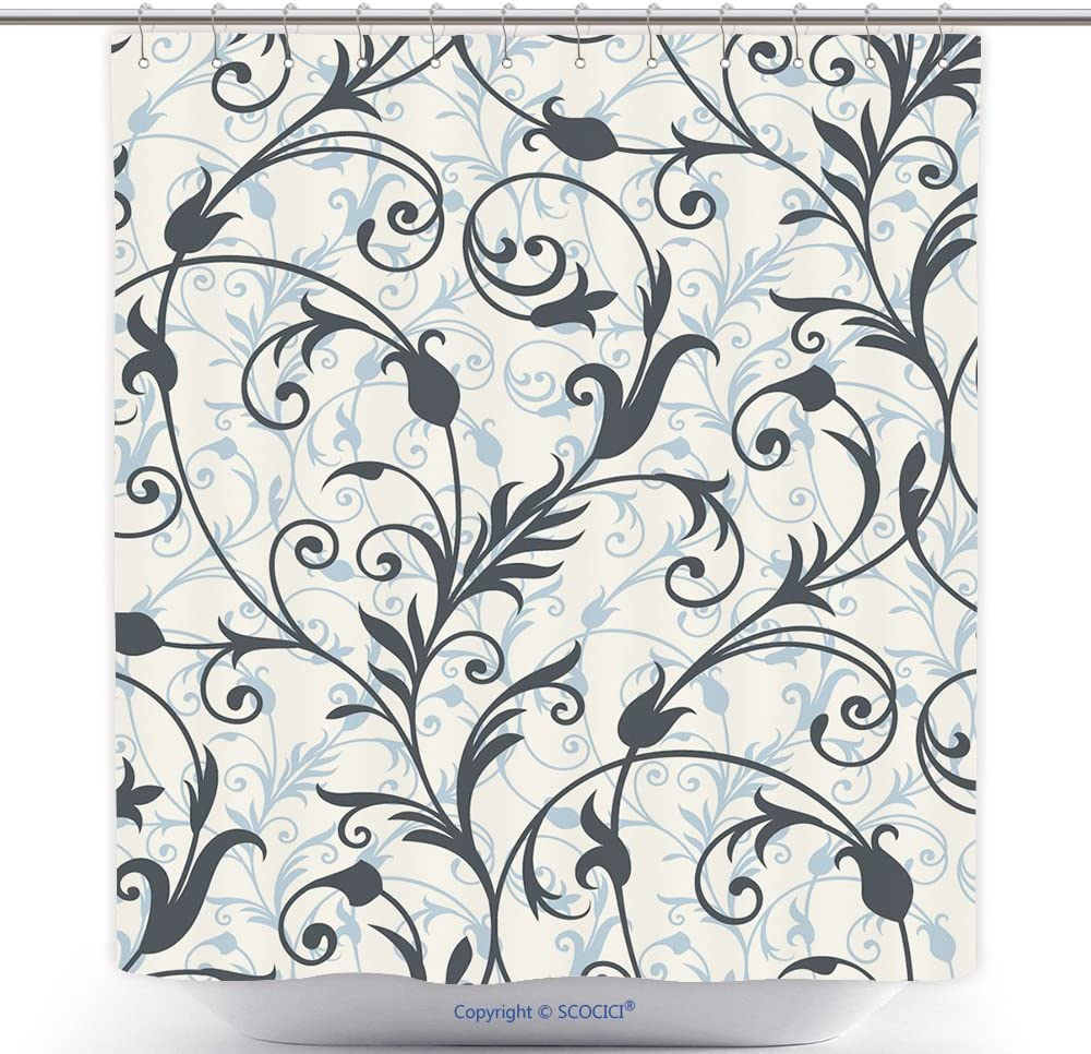 Amazon Com Vanfan Cool Shower Curtains Seamless Background From A