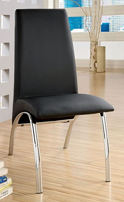 Novae Parsons Chair (Set Of 2) Finish: Black