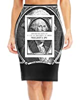 BaodaooWashington Quote 1st President's Day Slim Vintage Pencil Skirts For Women High Waist Pencil Skirt Short Fitted Mini Skirt Bundle Packs
