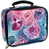 Nailhead Outer Space Galaxy Cat Kittens Lunch Box
