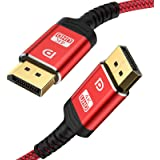 DisplayPort Cable 10ft,Capshi 1.2 DP Cable Nylon Braided -(4K@60Hz, 2K@144Hz) Gold-Plated DP to DP Cable Ultra High…