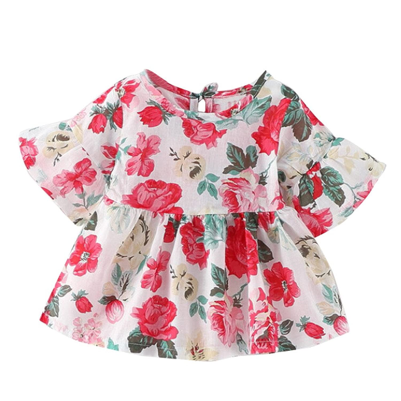 Winsummer Girls Dresses Toddlers Ruffle Boho Dress Cotton Baby Gown