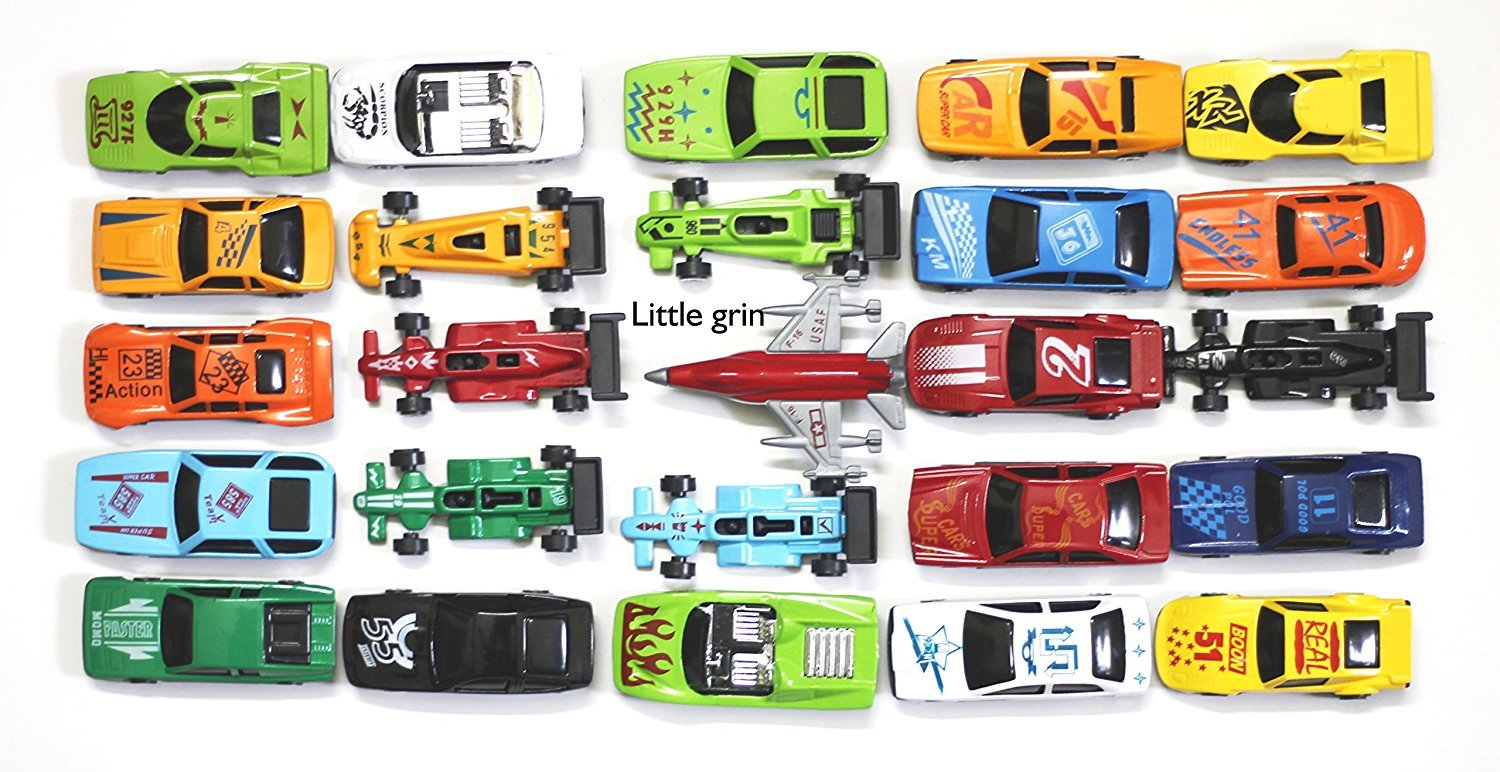 Little Grin Metal Force Die Cast Metal Car Set No Pull Back 25 Pc Gift Toy  For Kids