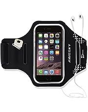 Guzack Brassard de Sport pour Samsung Galaxy S10/S9/S8/S7/S6/S5, iPhone 11/X/8 Plus/7 Plus/6s, Huawei Téléphone Jusqu'à 6.3 Pouces, Universel Réglable Brassard Running Armband pour Gym/Course -Noir