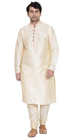 509fe72c0044 Amazon.com  Kurta Pajama for Men Long Sleeve Pyjama Set Indian Fashion  Wedding Party Clothing  Clothing