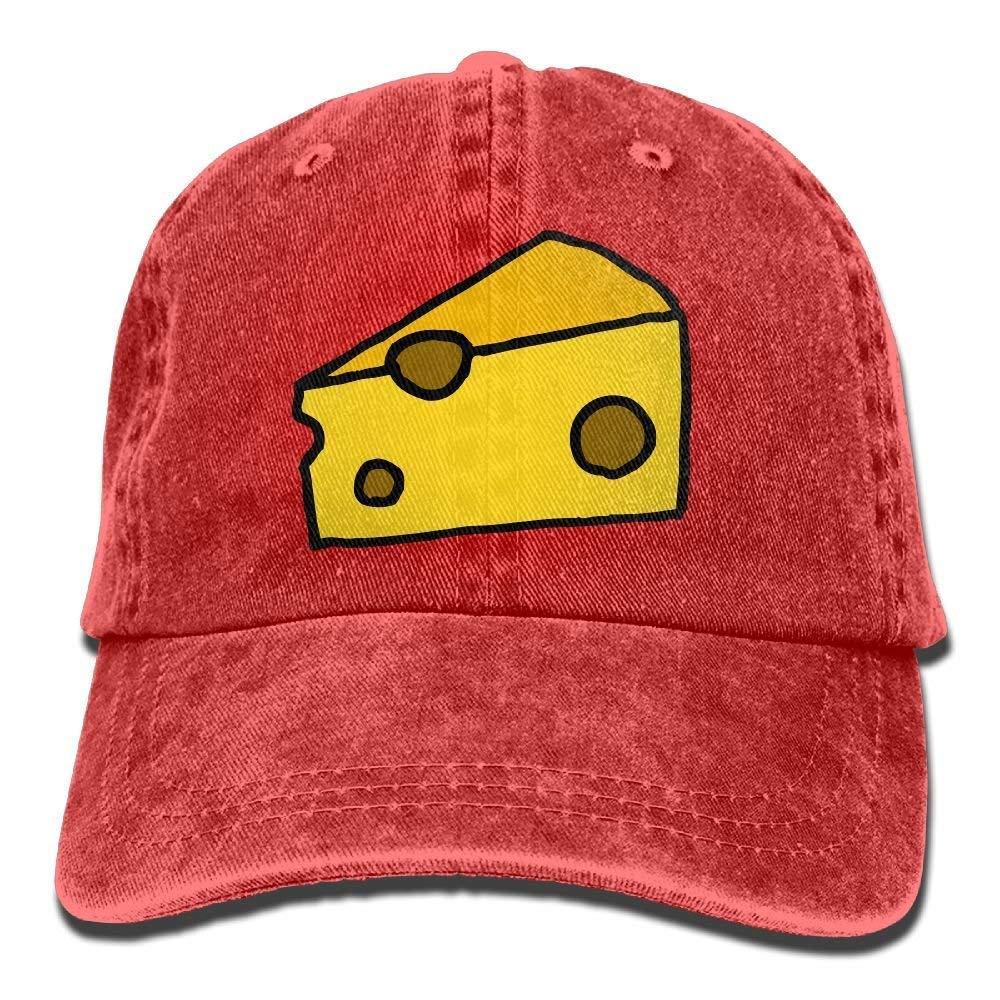 Gorra de b/éisbol Unisex Sombrero de Mezclilla con Queso Gorra Ajustable con Correa Deportiva de algod/ón