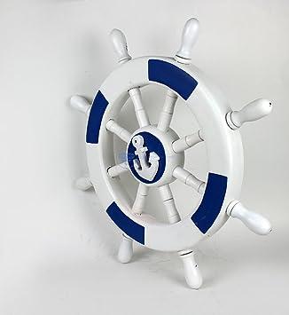 Amazoncom Wooden Crafted Dark Blue White Premium Nautical Anchor