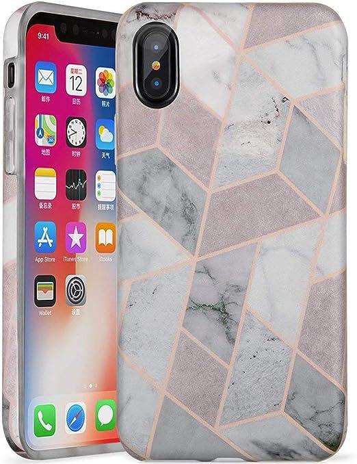 Lumarke iPhone X Coque, iPhone Coque XS, mignon pour filles/femmes Slim-Fit brillant TPU Effacer Bumper souple en caoutchouc souple Coque Meilleur ...