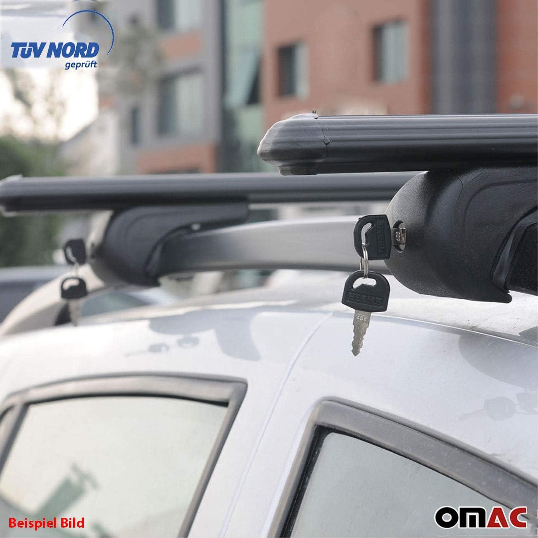 OMAC GmbH Boldbar Alu Dachtr/äger Relingtr/äger f/ür M-KLASSE W164 5trg SUV 2005-2011 mit T/ÜV ABE abschliessbar Schwarz