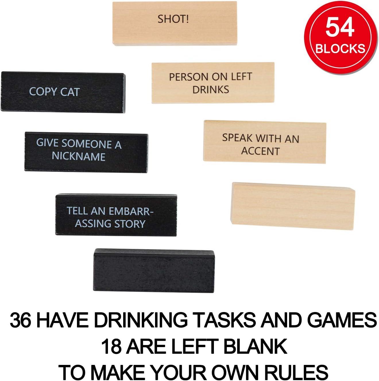 Lewo 54 Piezas Juegos de Beber con 36 Reglas Diferentes y Juegos para Adultos Party Game: Amazon.es: Juguetes y juegos