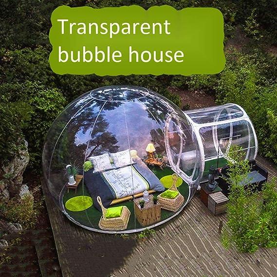 Esiong Carpa Inflable, Sala de Burbujas Inflable Simple al Aire Libre, caseta Solar Transparente Estilo Hotel, Carpa Circular móvil (diámetro 4 Metros, ...