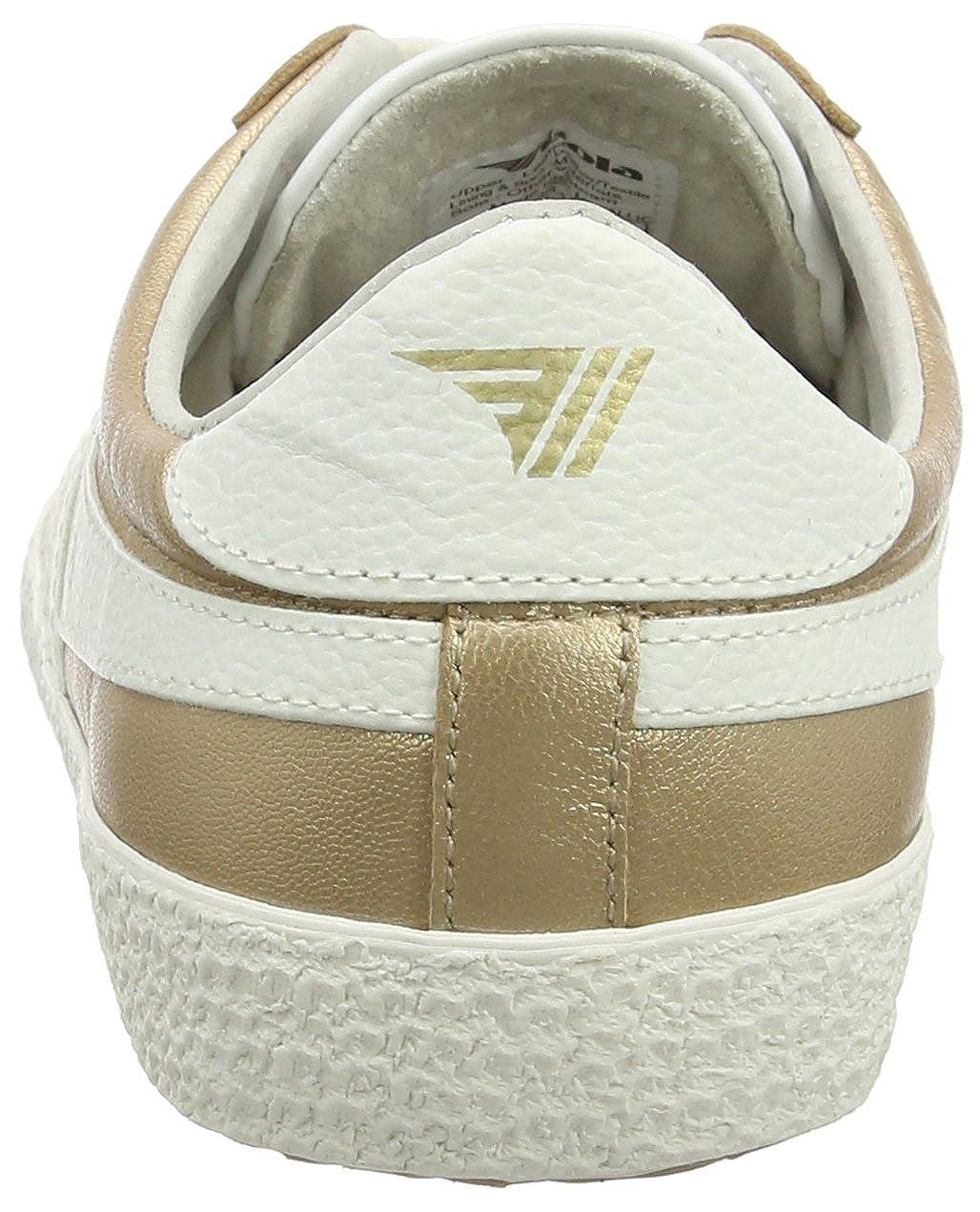 Gola Damen Specialist Metallic Sneaker, weiß Gold Gold Gold (Gold/Off Weiß) c1fd8c