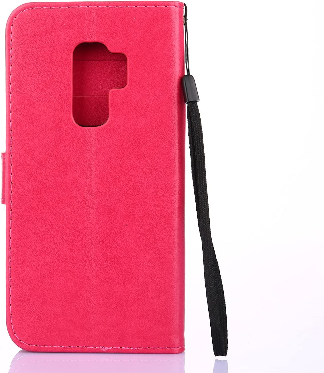 Herbests Coque en Cuir pour Galaxy S9 Coque /à Rabat Magn/étique Housse de Protection Ultra-Mince Slim-fit Anti Choc Coque avec Papillon Motif et Porte-Cartes,Gris
