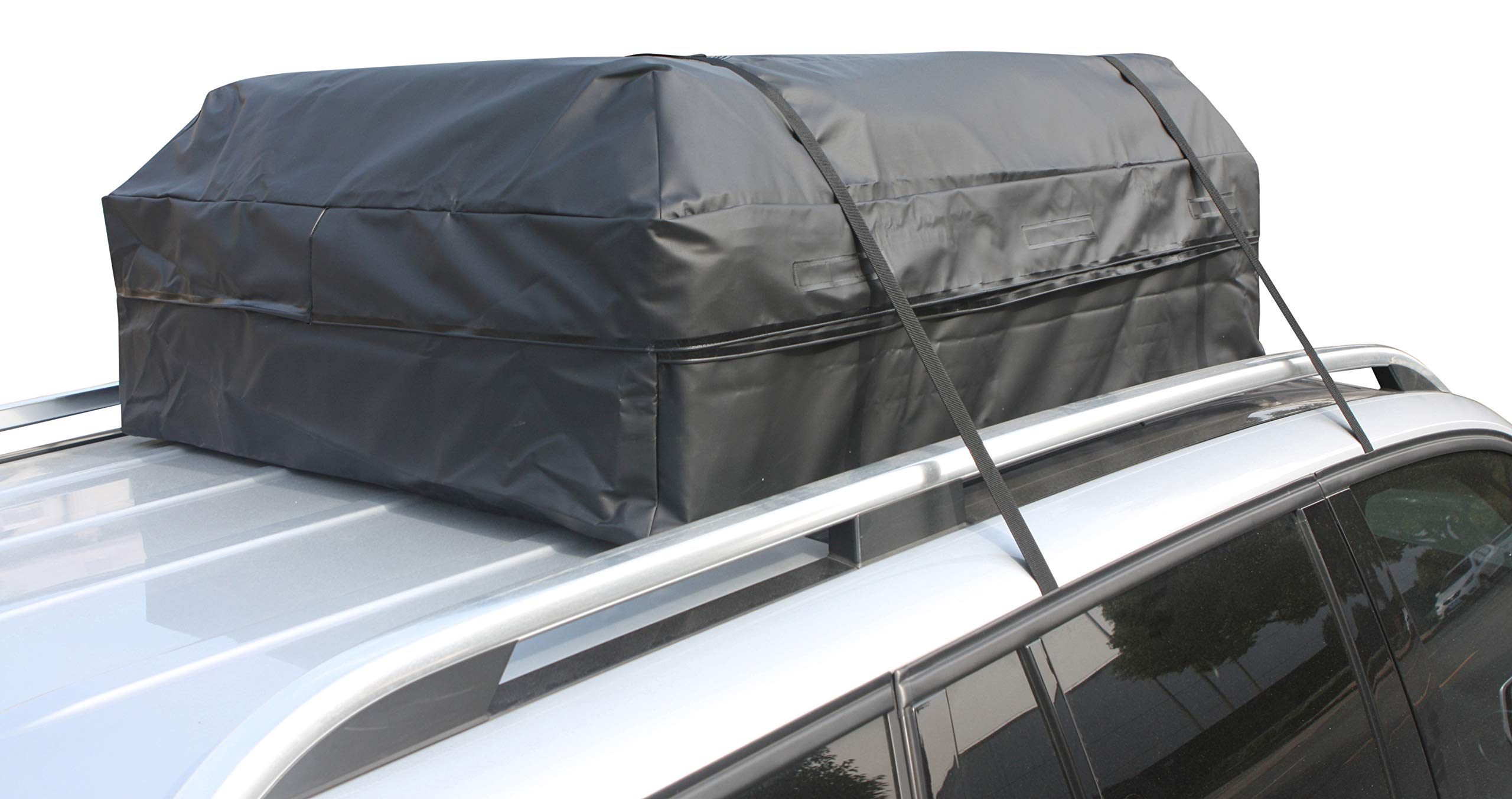 Perfection Updated Car Roof Bag Luggage Carrier Cargo Storage Roofbag for Cars w/o Racks, Attached Non-Slip Mat, Extra Rooftop Padding, Enhanced Safety Buckle by Perfection (Image #8)